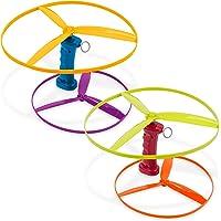 Battat BT2639Z Skyrocopter – flygleksak med 2 startare och 4 skivor för barn från 3 år och uppåt (6-st), flerfärgad, 10