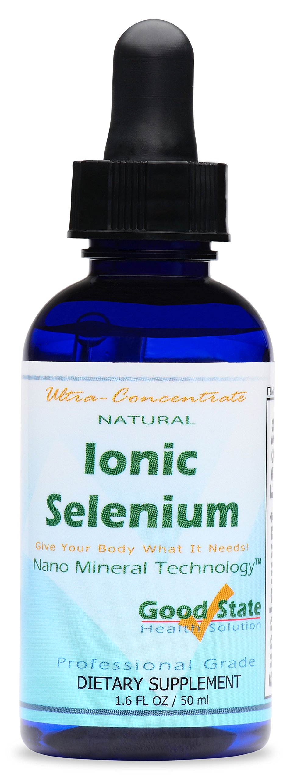 Good State Liquid Ionic Minerals - Selenium Ultra Concentrate - (10 drops equals 70 mcg) (100 servings per bottle)