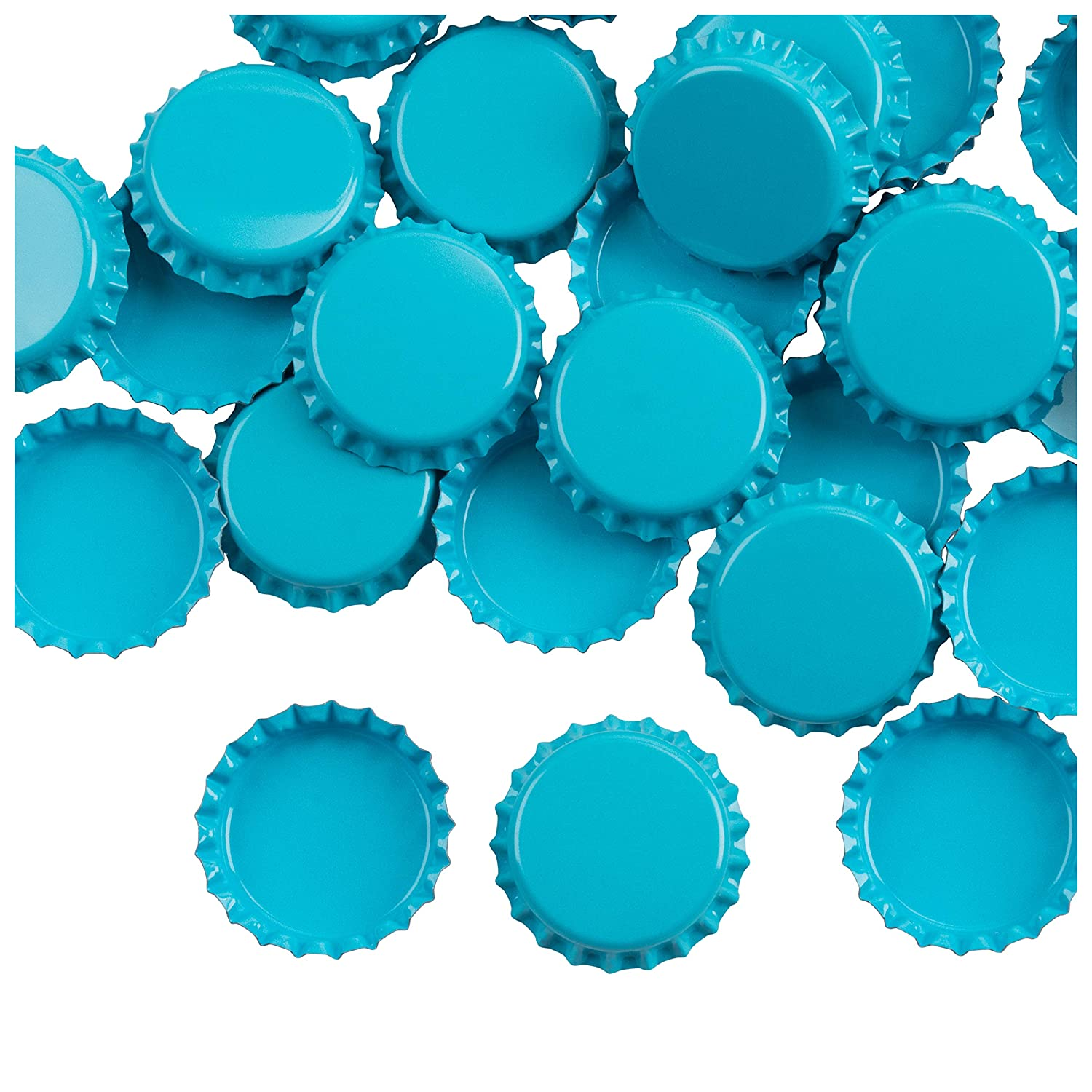 Bottle Caps- 120-Pack Craft Crown Bottle Caps, Decorative Bottle Caps,  Perfect for Jewelry Making, Hairbows, Pendants DIY, Scrapbooking, Blue, 1  Inch