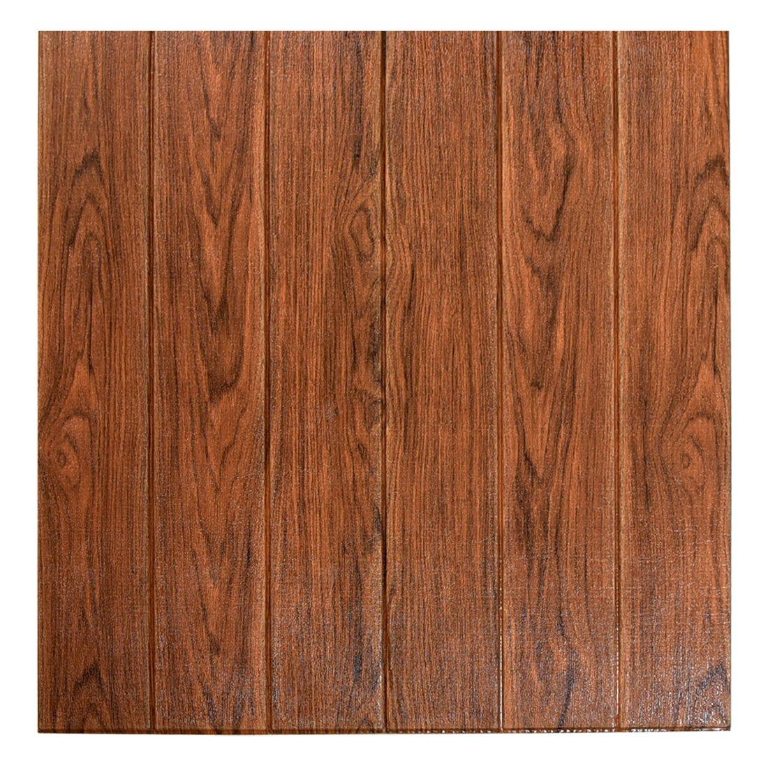 タンスのゲン 木目調 壁紙シール [ 24枚セット ] 68×68cm クッションシート 厚み0.5cm 防音 カット可能 DIY ウォールステッカー グレー 18700067 01 B07DK5GV3W 24枚セット|グレー(木目調) グレー(木目調) 24枚セット