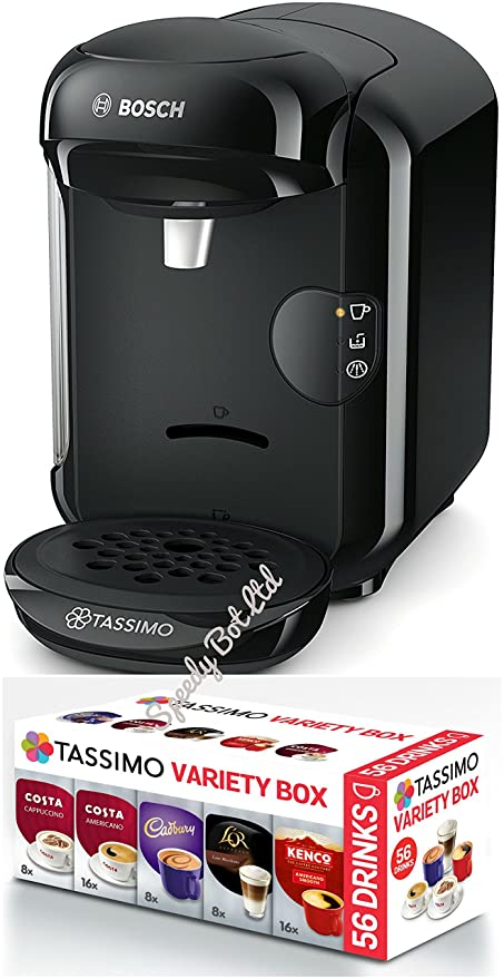 Bosch Tassimo Vivy 2 T14 tas1402gb 0,7 l, 1300 W, Negro máquina de café + T Discos monodosis café 56 bebidas & # X2615; Variedad Box Set: Amazon.es: Hogar