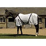 Rhinegold White Horse Pony Fly Rug with Neck Cover 4ft6in to 7ft0in