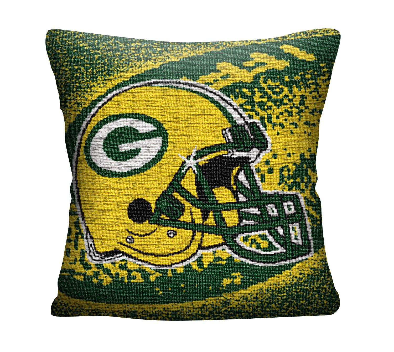 The Northwest会社Officially Licensed B07DYWDMNN The NFLグリーンベイパッカーズポータルジャカード枕
