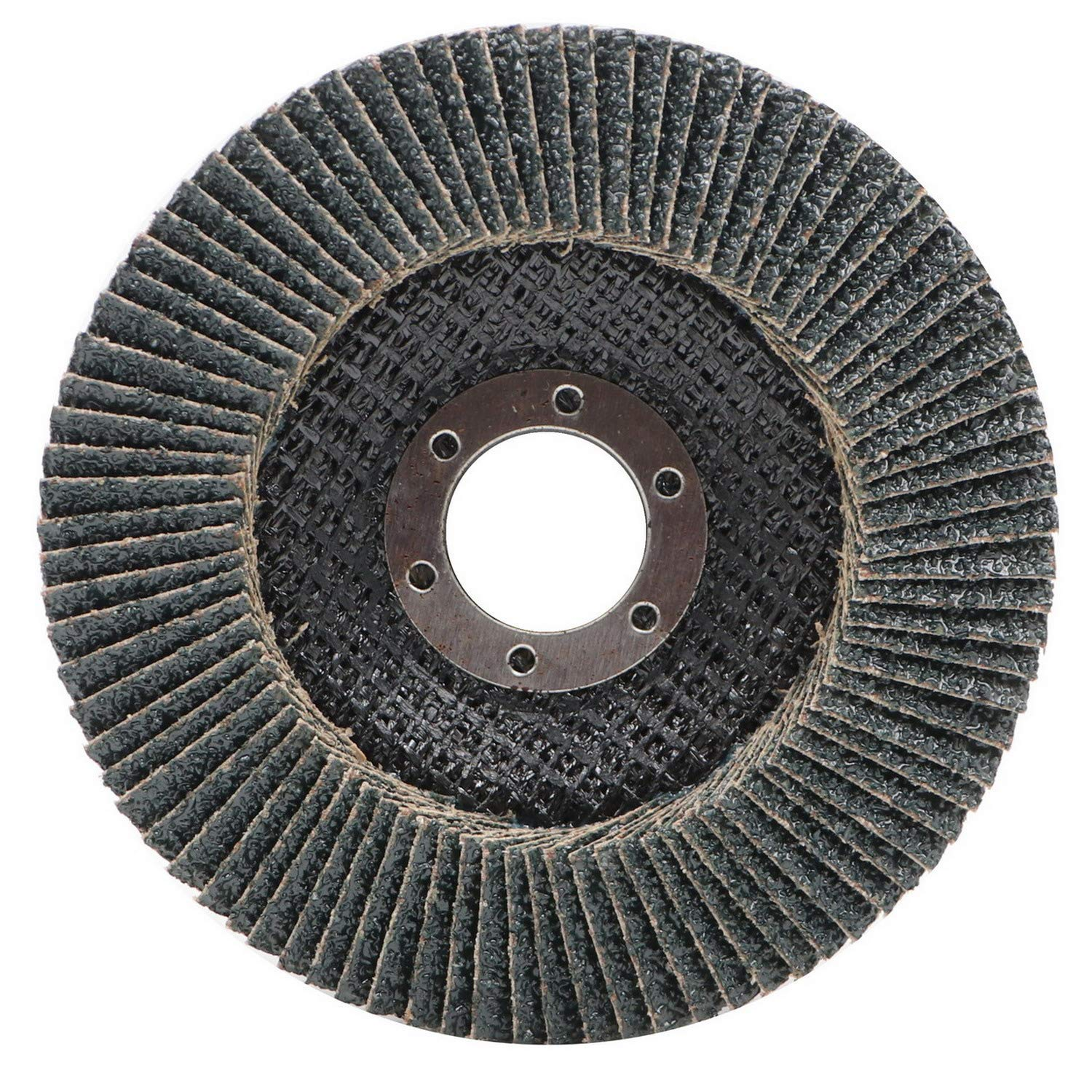 Eco Edge 4.5 x 7//8 Arbor High Density Deluxe Zirconia Abrasive Flap Disc 40 Grit Type 29 Pack of 10