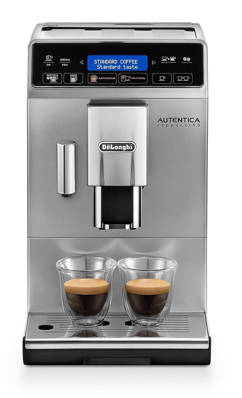 DeLonghi Autentica Cappuccino ETAM 29.660.SB Cafetera Superautomática, 1450 W, Muy estrecha, Depósito Leche, Sistema Espuma Leche, Variedad Recetas ...