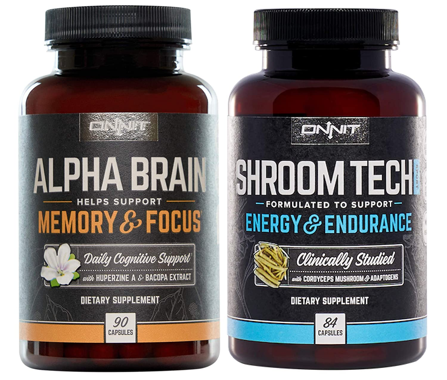 ONNIT Alpha Brain Shroom Tech Sport Stack – Designed to optimize Mental Focus and Athletic Performance