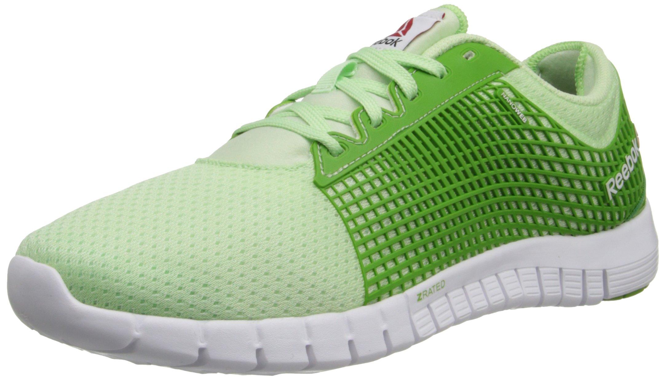 Reebok Women's ZQuick Running Shoe,Sea Glass/Green Smash/White,6 M US