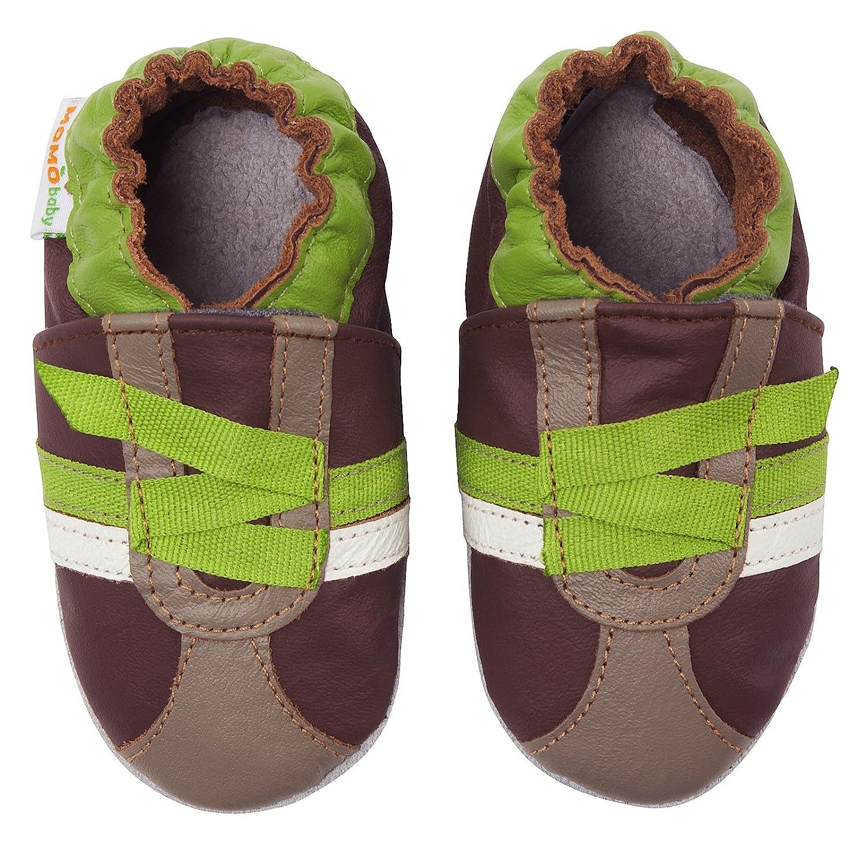 Amazon Momo Baby Boys Brown Green Z Strap Sneaker Soft Sole