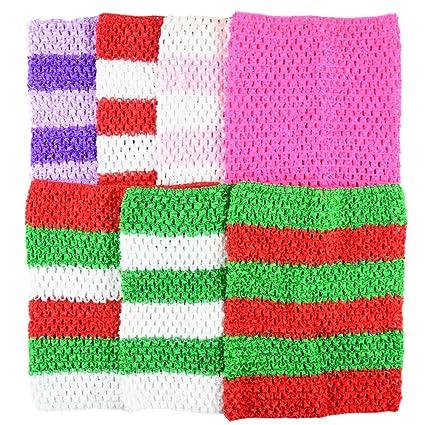 53f74c938b Amazon.com  BERON Pack of 7 9 Inch Handmade Baby Girl Silk Crochet Tutu  Tube Top Chest Wrap for Toddler Infants(AID04-D)  Arts