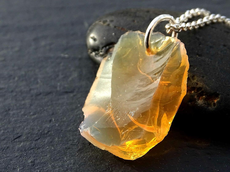 Opal Design Silver Pendant Fire Opal