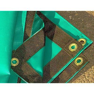 RT 3' x 8' Feet Green Heavy Duty 18 Oz. Vinyl Waterproof Reinforced Edges Tarp Camping Tent: Garden & Outdoor
