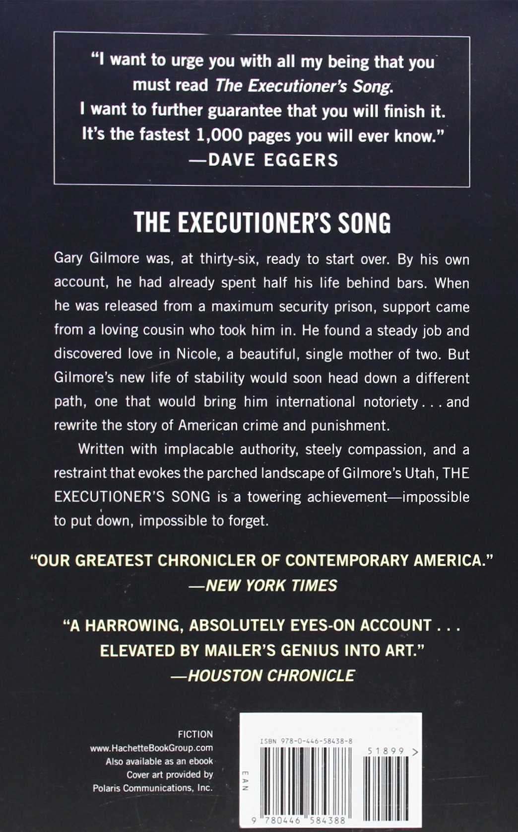 the executioner s song mailer norman eggers dave