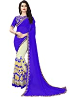 Siddeshwary Fab Women's Georgette Multi Color Saree With Blouse Piece