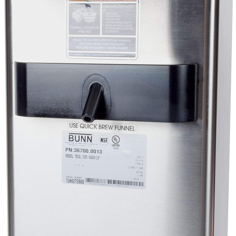 Bunn 367000013 Tb3q 3 Gallon Iced Tea Brewer With Brew Phase Wiring Diagram Quickbrew 120v 1680w Industrial Scientific