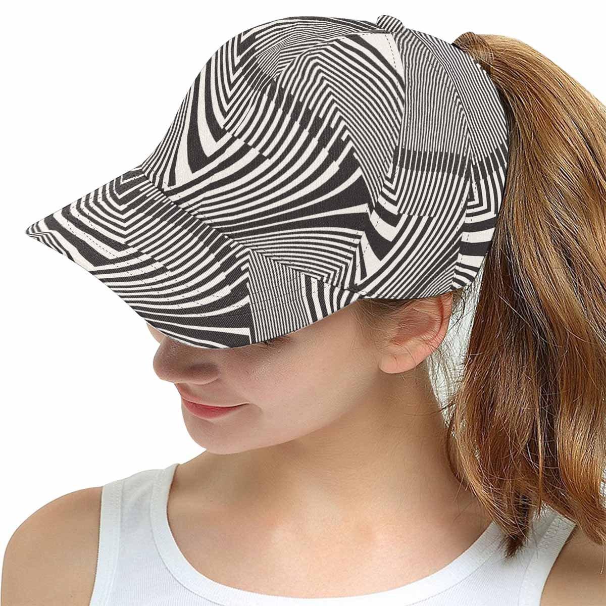 InterestPrint Classic Dad Hat Adjustable Plain Cap Striped Geometric Pattern