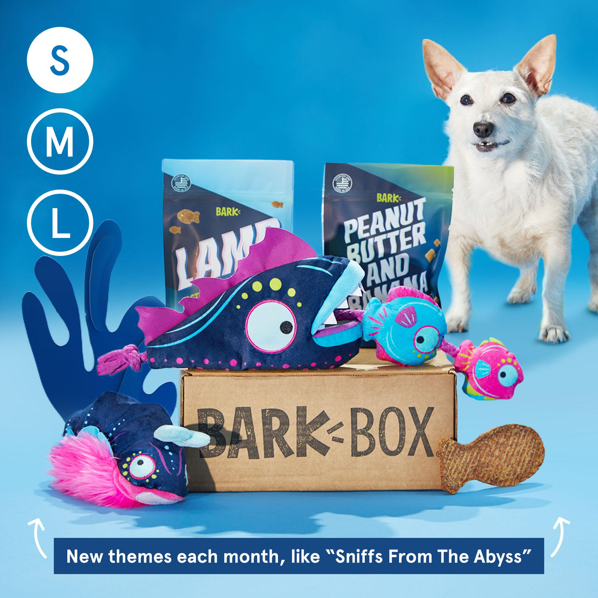 BarkBox Subscription - The Best Toys & Treats For Your Dog Every Month: Small (0-20lb)