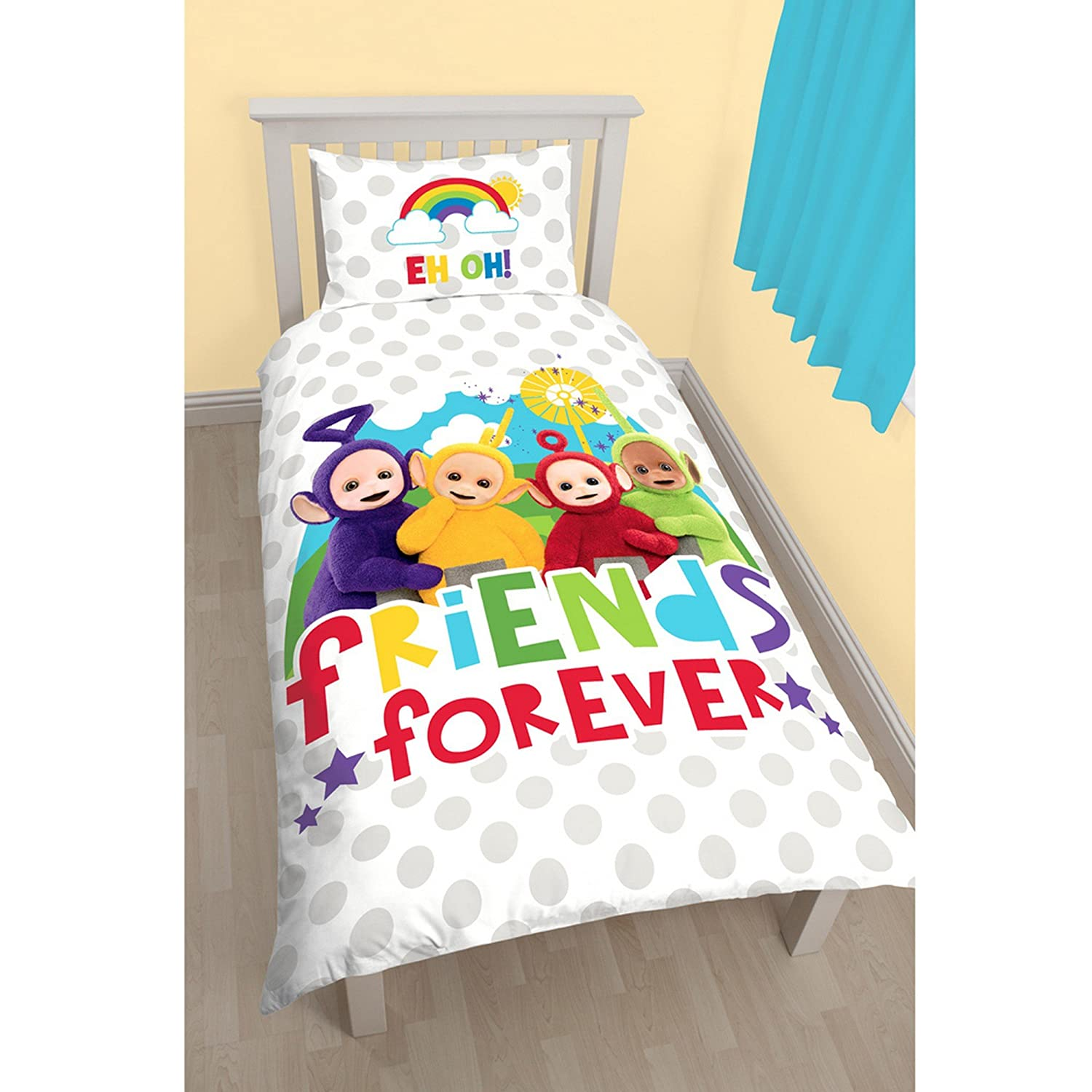 Teletubbies Childrens/Kids Official Playtime Reversible Single Duvet (Single Bed) (Multicoloured) UTKB922_1