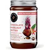 100% Cacao Hazelnut Butter by Blue Stripes | ORGANIC | Sugar Free, Keto-Friendly, No Palm Oil | Vegan Chocolate Spread | 3 In