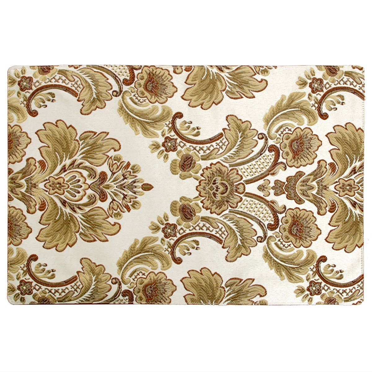 Luxury Damask Table Placemats Set of 6 Baishuo 12x18 inch