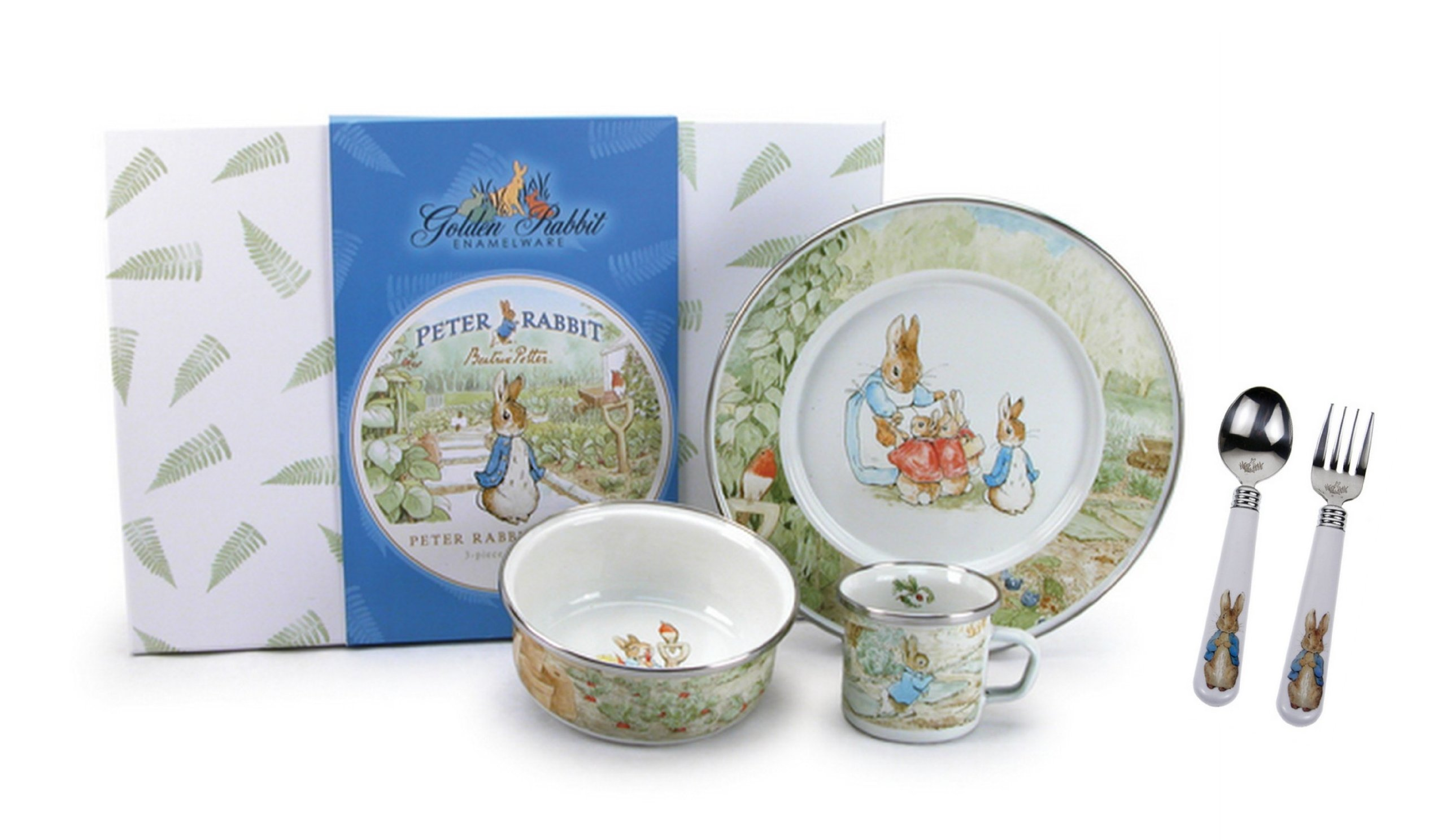 Golden Rabbit, Beatrix Potter's Peter Rabbit 4 Piece Feeding Set, Classic Style