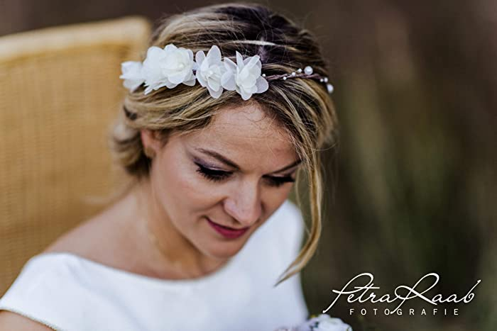 Blumen Haarkranz Haarband Hochzeit Trachten Haar Schmuck Trend