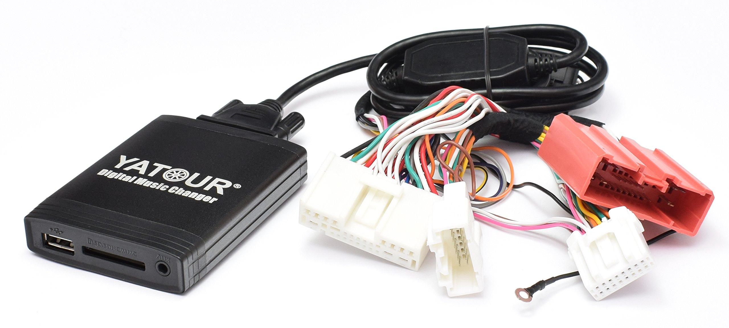 MPV Adattatore USB SD AUX MP3 per Mazda 323 3 BK fino al 12//05 RX8 Premacy dal 10//01 firmware a partire da 9.55, ecetto 9.81, 10.01 6 GG//GY//GH fino al 03//10 5 fino al 06//08 626 MX-5 NB//NC da 01 a 10//08 Demio dal 01//00 da 10//02