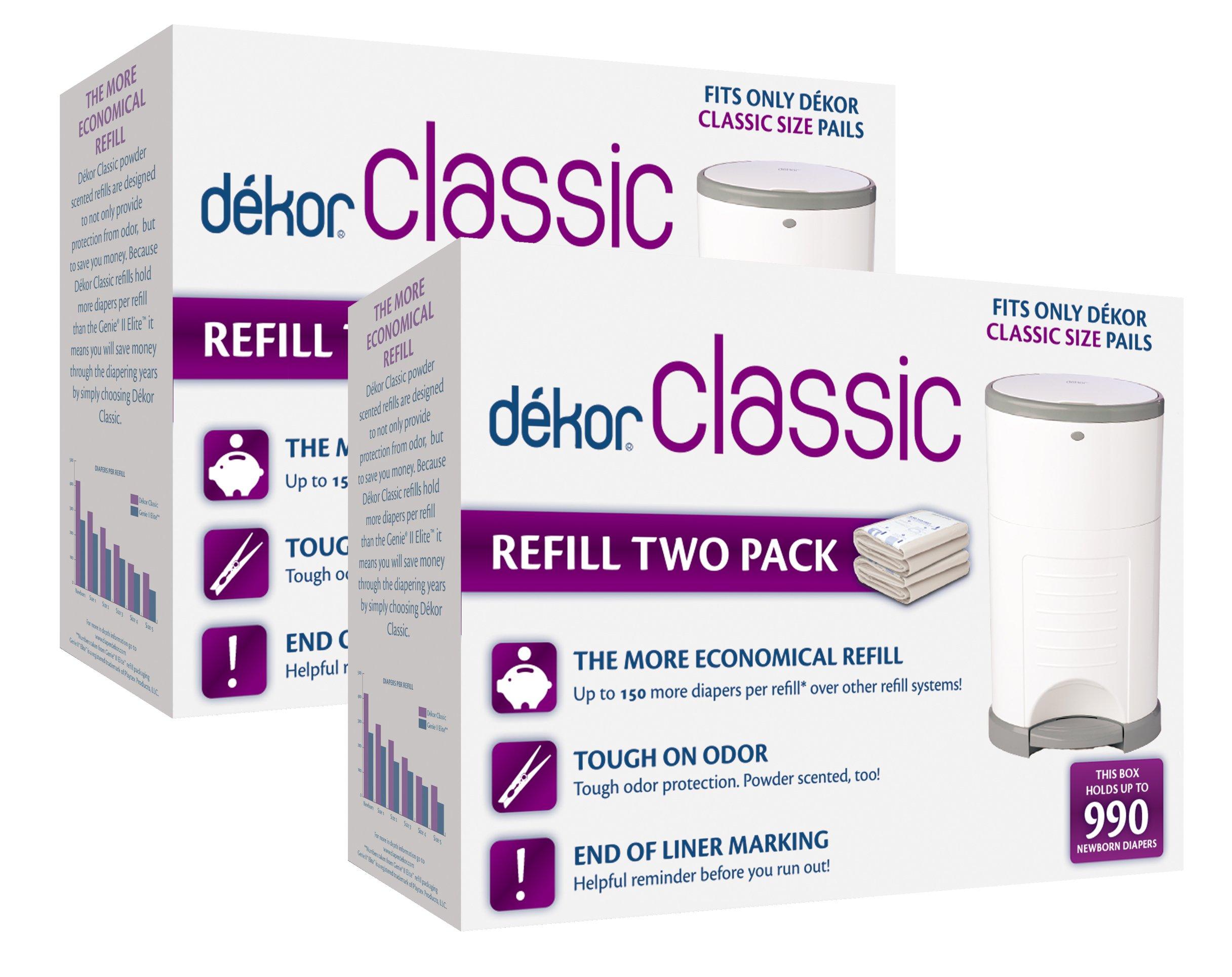 Diaper Dekor Classic Diaper Pail Liner Refills, 4 Count