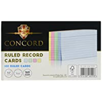 Concord Record Card Smooth 127x77mm Assorted Ref 16099 [Pack of 100]