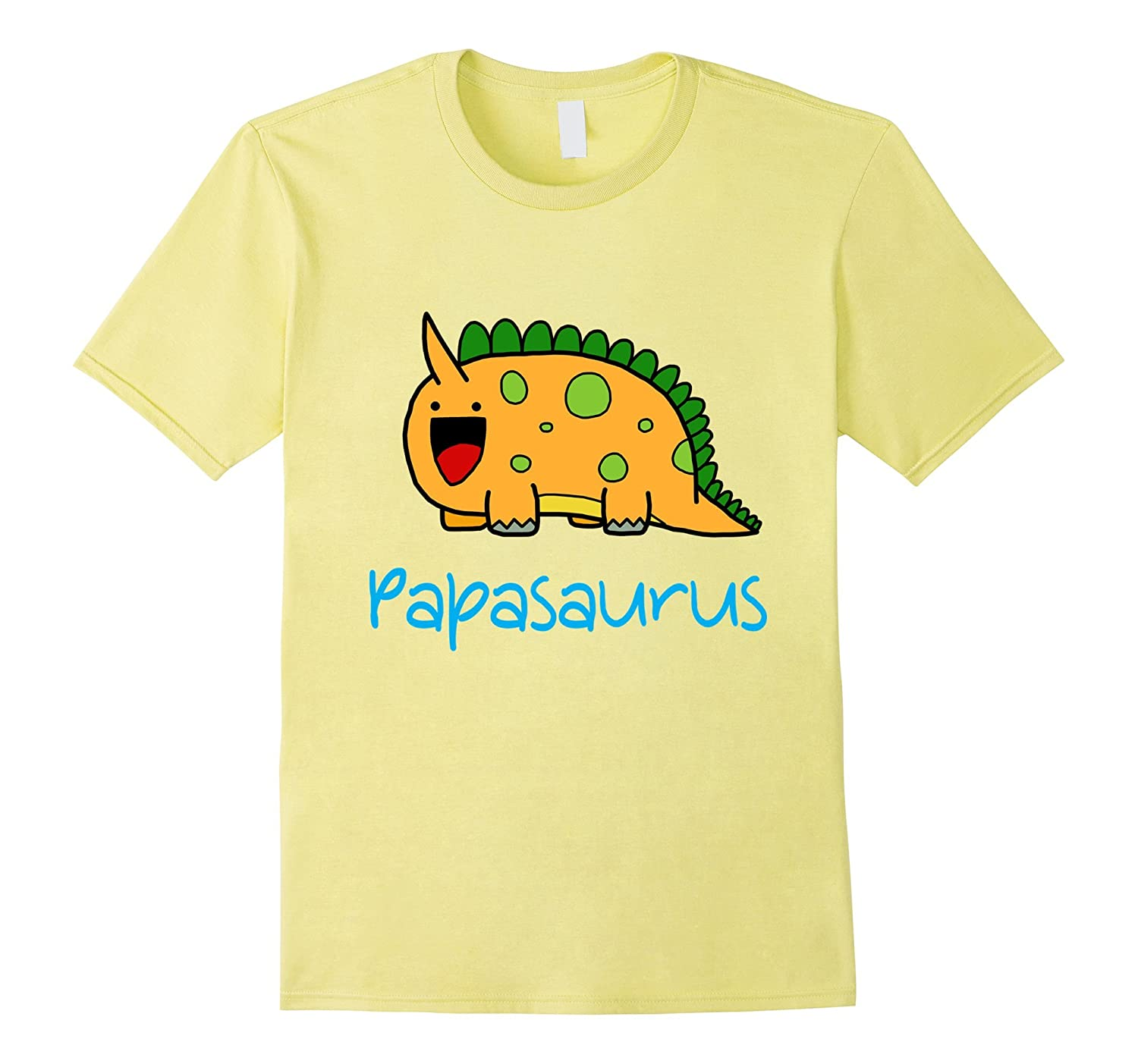 Papasaurus Funny Fathers Day T-Shirt-RT