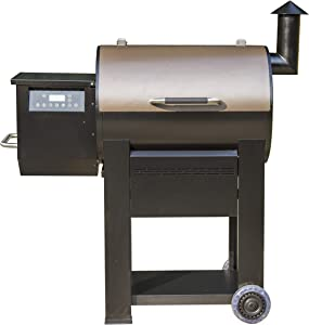 Monument Grills 87578 Bronze Powder Coated Steel Wood Pellet Grill and Smoker with 572 Square Inch Cooking Space and WiFi Control