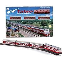 PEQUETREN- Tren Talgo articulado con desvíos, Color Rojo