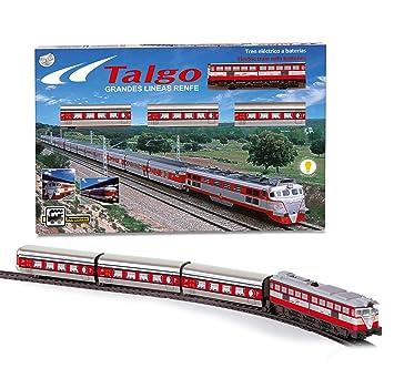 PEQUETREN- Tren Talgo articulado con desvíos, Color Rojo (508)