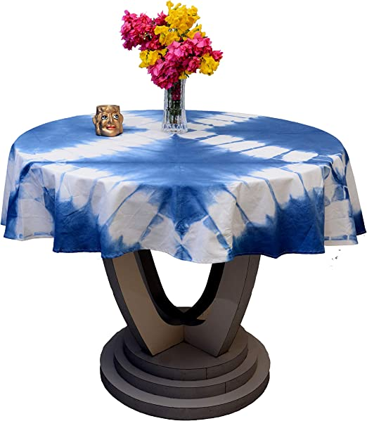 Shibori Table Cloth Outdoor Round Table Cover Tie Dye Tablecloth Christmas Gift