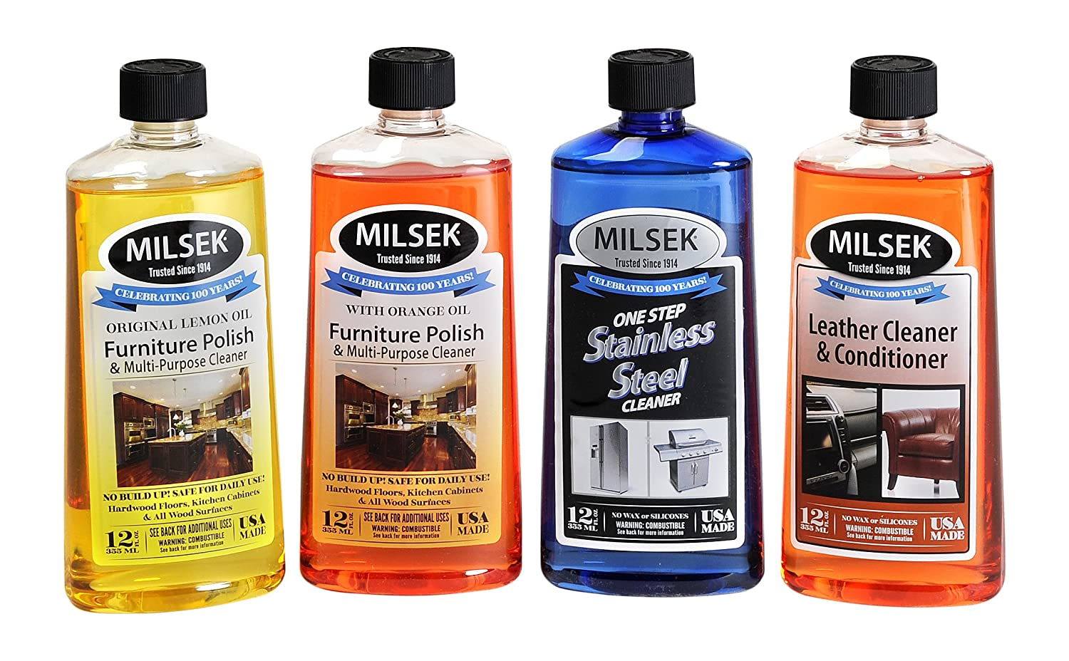 Milsek 029217131468 Pack Cleaner Variety Pack of 4-Each 12-Ounce, 4-Pk