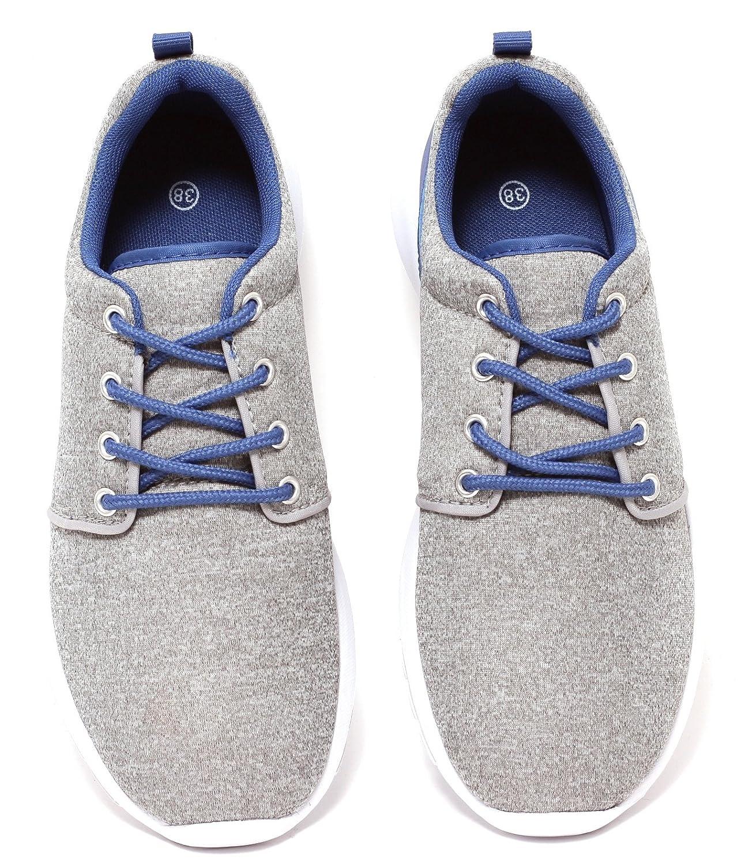 Damen Herren Freizeitschuhe Sportschuhe Sneaker Ultraleicht GRAU MELIERT Gr. 37–41