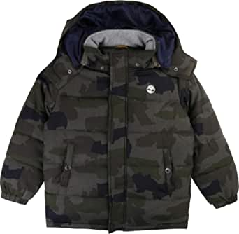Timberland - Plumífero con capucha desmontable para niño