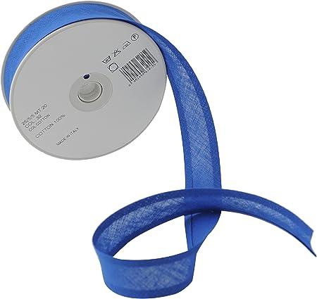 Inastri - Cinta bies de algodón, 25/5/ 5 mm, Color Azul Real: Amazon.es: Hogar