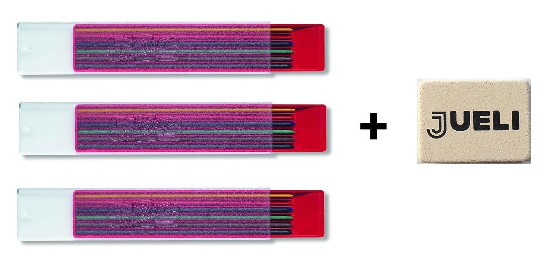 KOH-I-NOOR - Mine colorate, 2 mm di diametro, lunghezza: 120 mm, colori assortiti (3 confezioni ciascuna da 6 mine) 4301