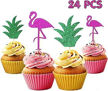 12 stücke Ananas Cupcake Kuchen Topper Luau Geburtstag Hawaii Party
