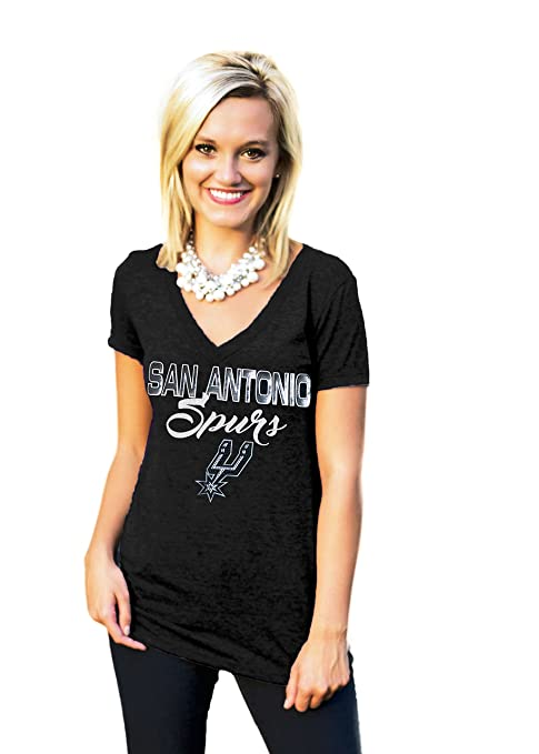 huge discount 7e69a 27dd4 Amazon.com: Gameday Couture SAN Antonio Spurs DEEP V-Neck ...