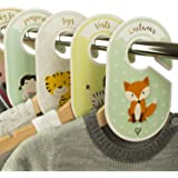 Baby Wardrobe Dividers - 18 closet organisers / hangers - Arrange clothes by clothing type or age - Perfect baby shower gift set - Unisex Woodland / Safari / Farm animal theme by Cozy Hedgehog
