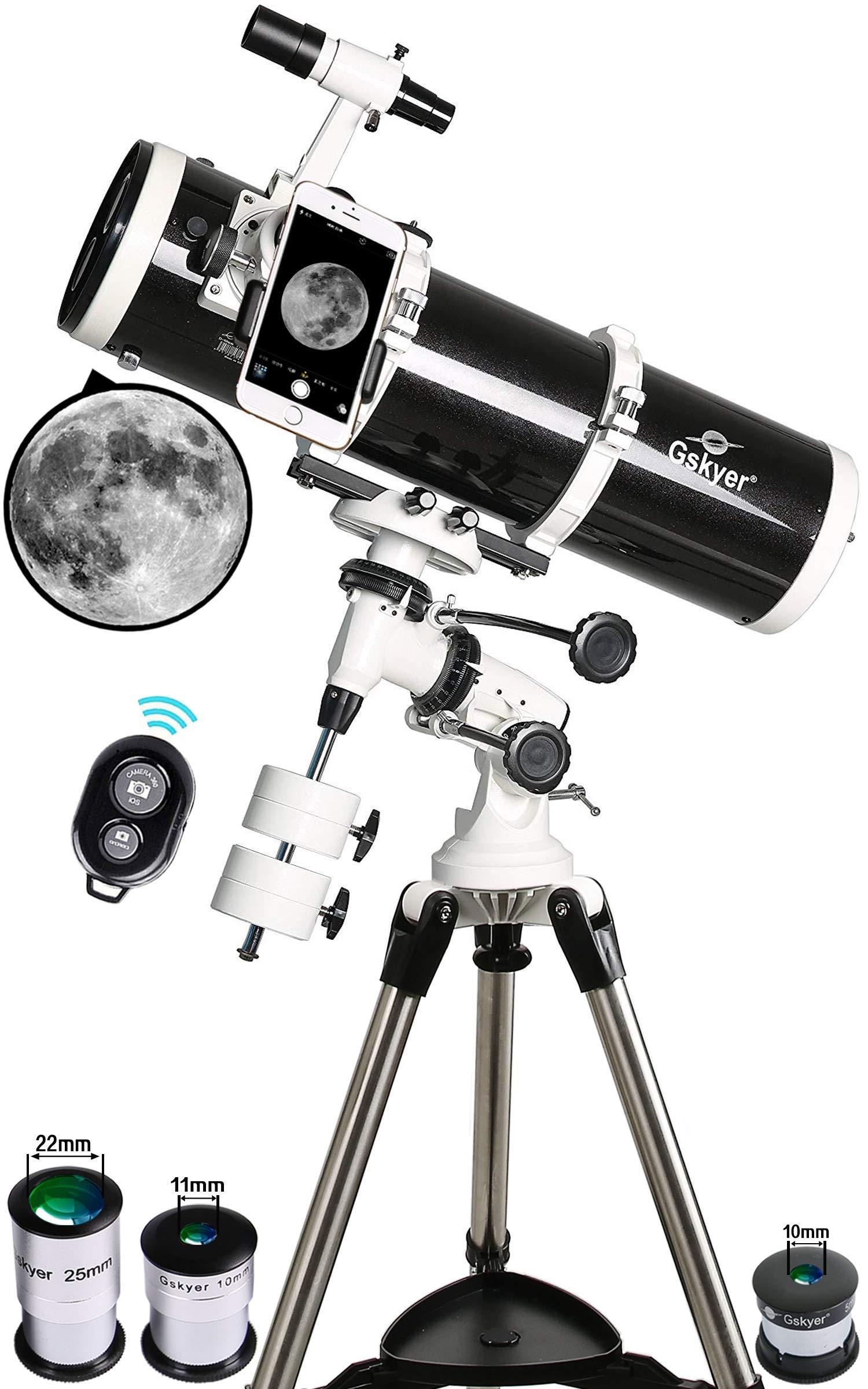 Gskyer Telescope, 130EQ Professional Astronomical Reflector Telescope, German Technology Scope (Renewed) by Gskyer