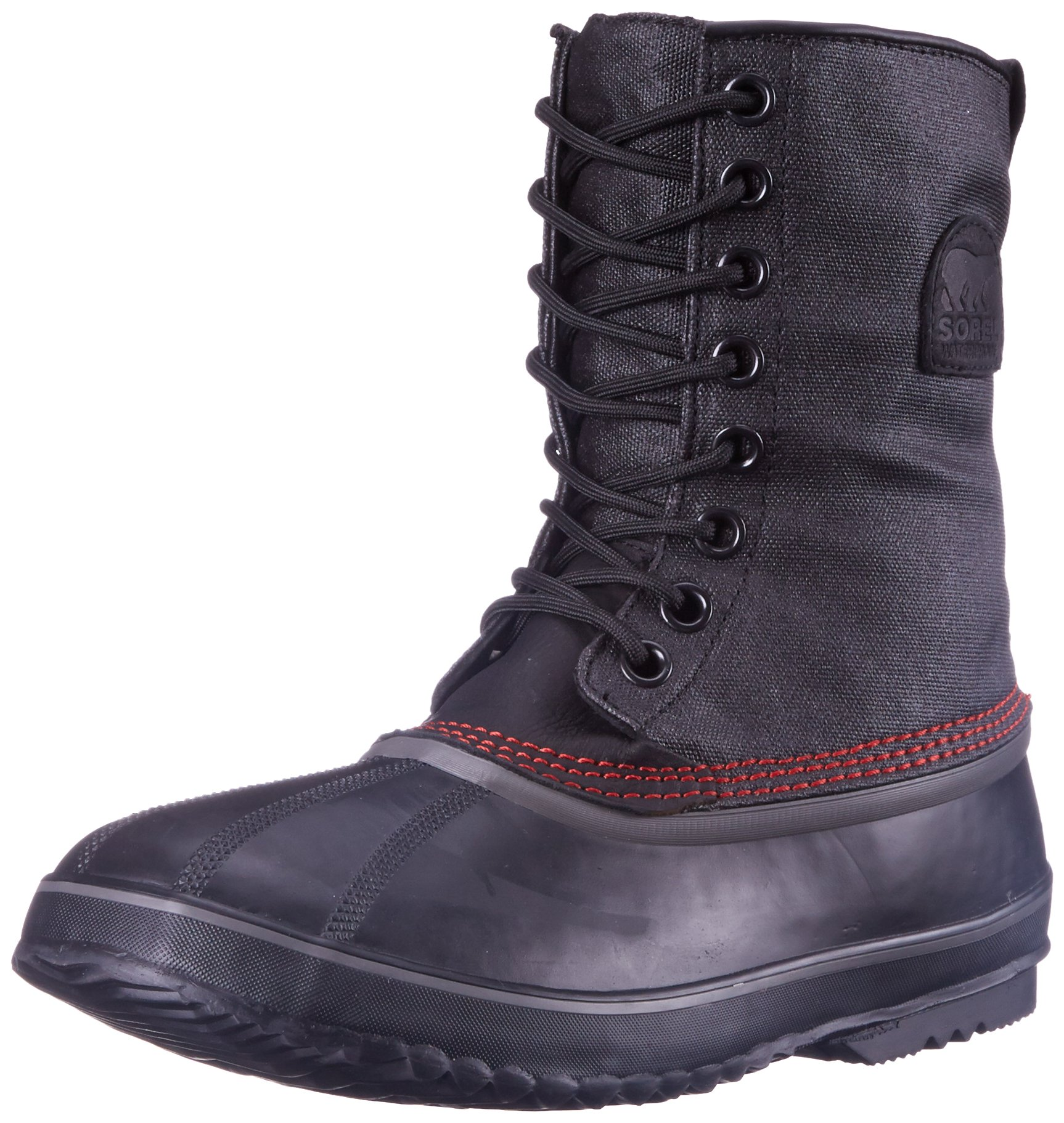 SOREL Men's 1964 Premium T CVS Snow Boot, Black, Sail Red, 10 D US by SOREL