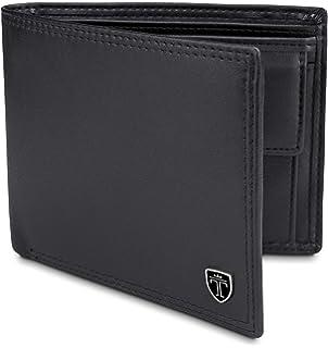 16132c2b7c TRAVANDO ® Portafoglio Uomo Grande OSLO con protezione RFID Porta Carte di  Credito nero con Portamonete