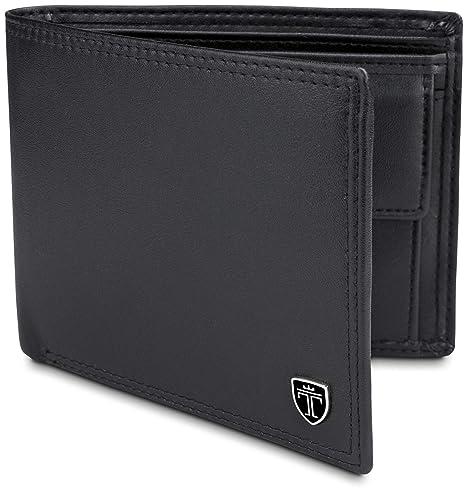 439e35266fc82 TRAVANDO ® Geldbeutel Männer Toronto RFID Geldbörse Herren schwarz  Portemonnaie Portmonaise Geldtasche groß Brieftasche Portmonai  Herrengeldbeutel