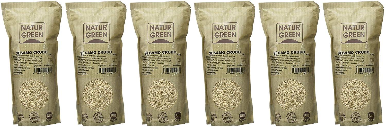 NaturGreen Semillas de Sésamo natural - Pack de 6 unidades de 450 ...