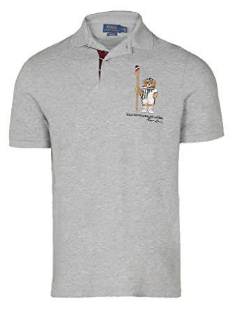 3278926f0f4d9 Polo Ralph Lauren Men s s Limited Polo Bear Polo Shirt-HtrGrey Boathouse at  Amazon Men s Clothing store