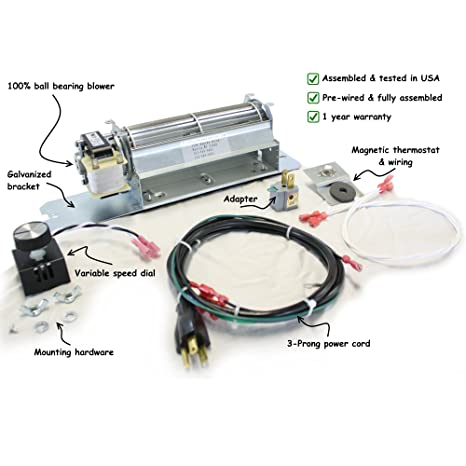 GZ550 Fireplace Blower Kit for Continental, Napoleon Fireplaces; Rotom on