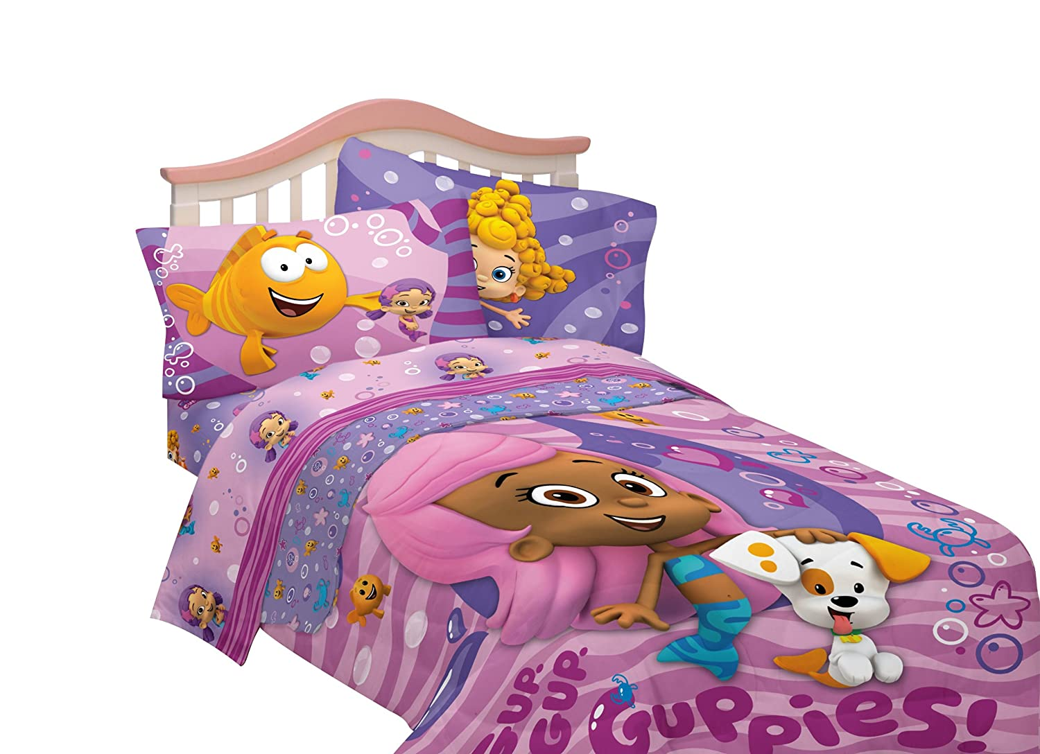 nickelodeon bubble guppies reversible full comforter amazon ca
