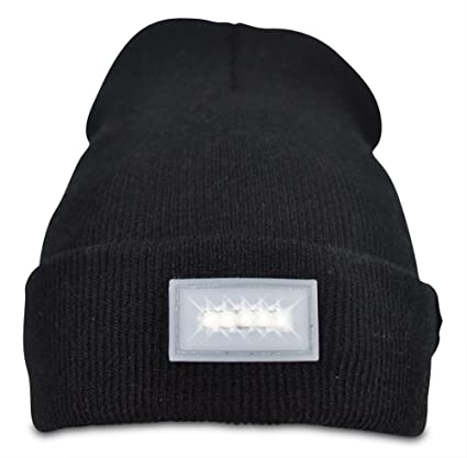 Wanderum s Premium Quality 5-LED Light Beanie Hat - Long Lasting Battery -  Unisex - a8cc2f5a292